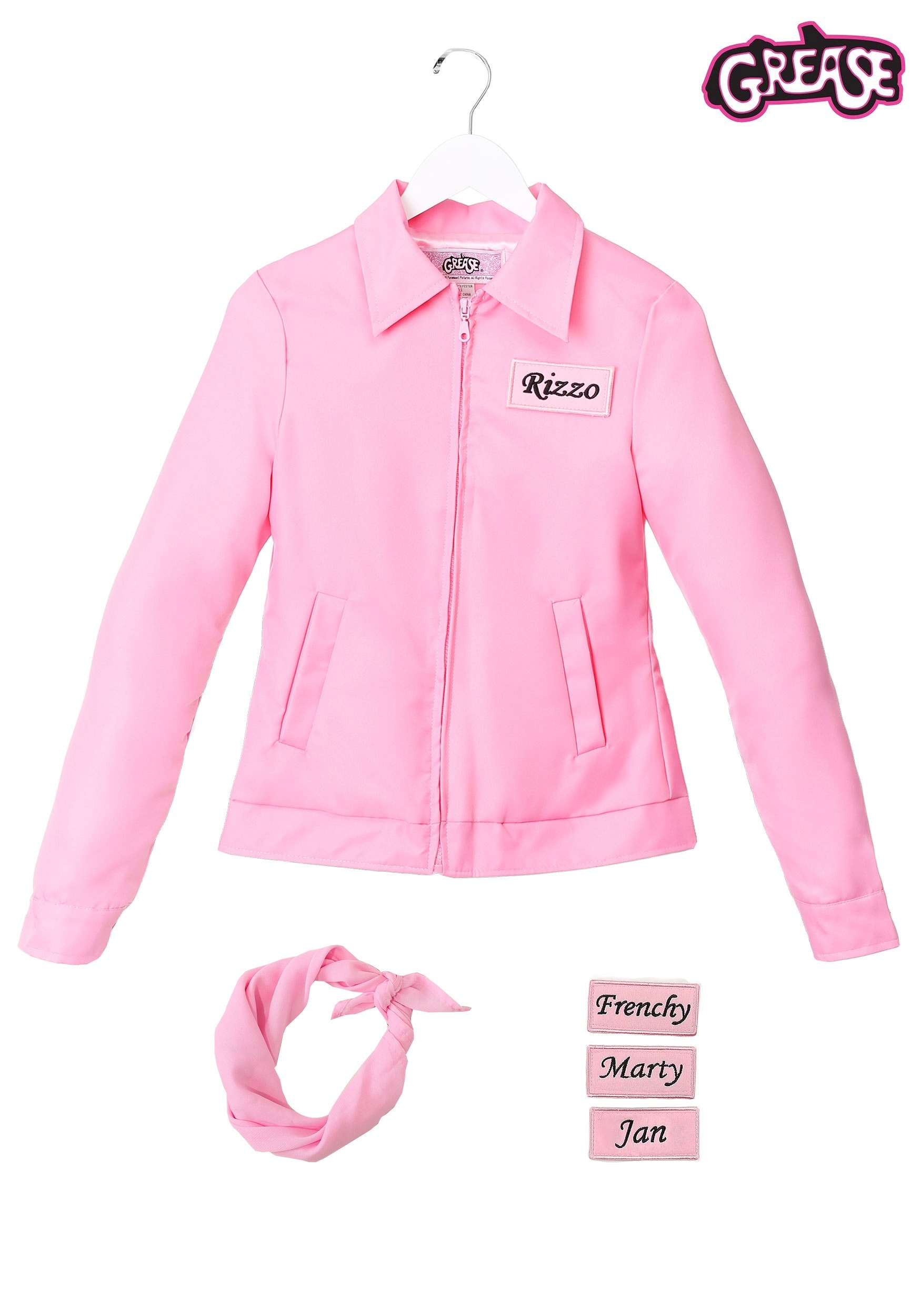 80d3f617a0b Authentic Grease Plus Size Pink Ladies Jacket Costume