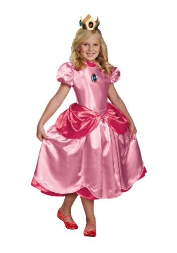 Princess Peach Deluxe Girls Costume