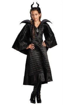Deluxe Black Maleficent Christening Gown Girls Costume