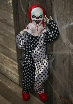 Halloween Leg Kicking Clown on Swing Decoration