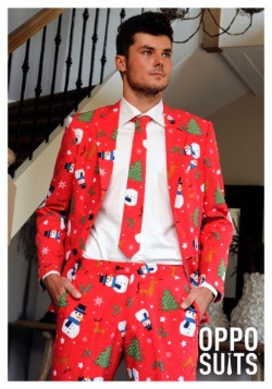 Men's Red Christmas Suit3