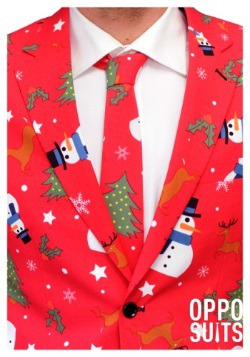 Men's Red Christmas Suit4