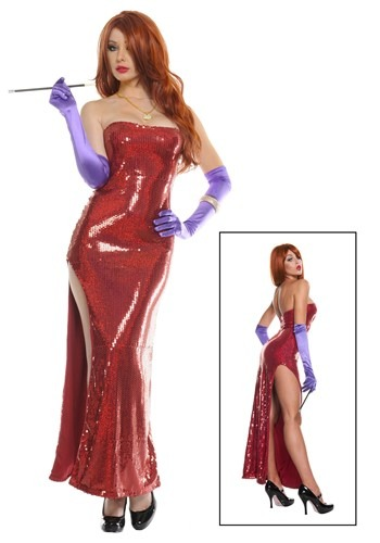 Plus Size Deluxe Sequin Hollywood Womens Costume