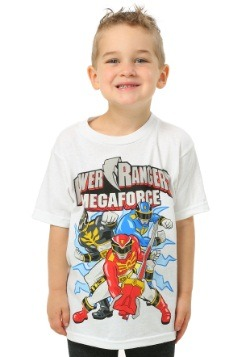 Power Rangers Megaforce White T-Shirt