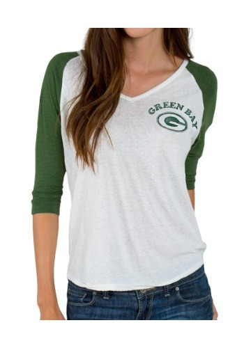 Green Bay Packers Victory V-Neck Raglan Shirt