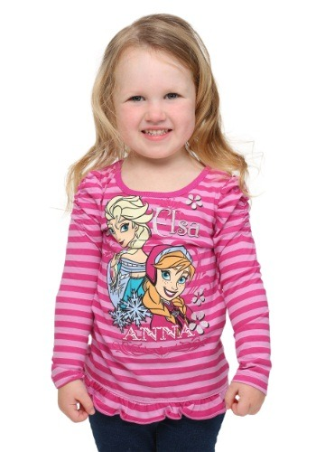 Toddler Frozen Purple Stripe Long-Sleeve Shirt