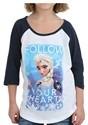 Frozen Group Tween Girls Raglan Shirt