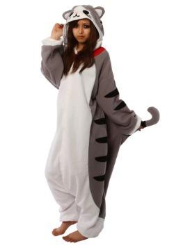 Adult Tabby Cat Pajama Costume4