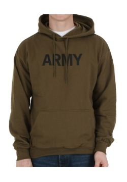 Olive Drab Army Hooded Sweatshirt
