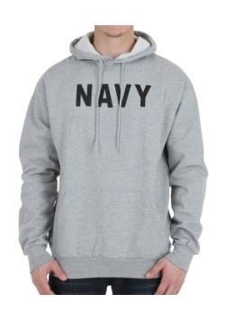Gray Navy Hooded Sweatshirt