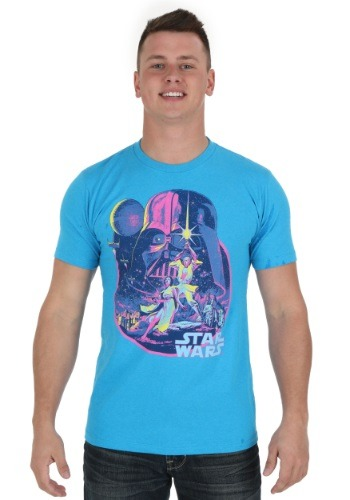 Star Wars Acid Dawn Turquoise Men's Tee