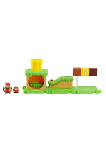 Mario Bros Acorn Plains Land with Flying Squirrel Set