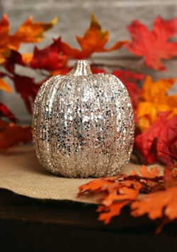 Champagne Glitter Pumpkin Halloween Decor