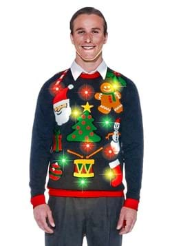 Everything Christmas Lighted Adult Ugly Christmas Sweater