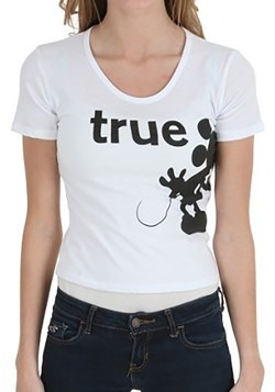 True Love Mickey & Minnie Juniors T-Shirt