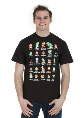 Pixel Cast Mens Black T-Shirt