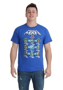 Mega Man Cast Blocks T-Shirt