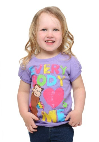 Toddler Girls Curious George Everybody Love's Me T-Shirt