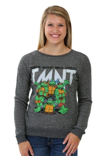 TMNT Snow Heather Pullover Juniors Sweatshirt