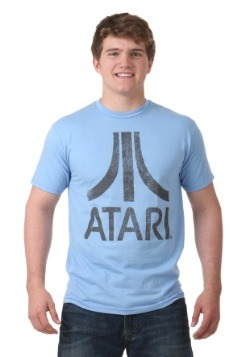 Atari Classic Logo Lt Blue Men's T-Shirt