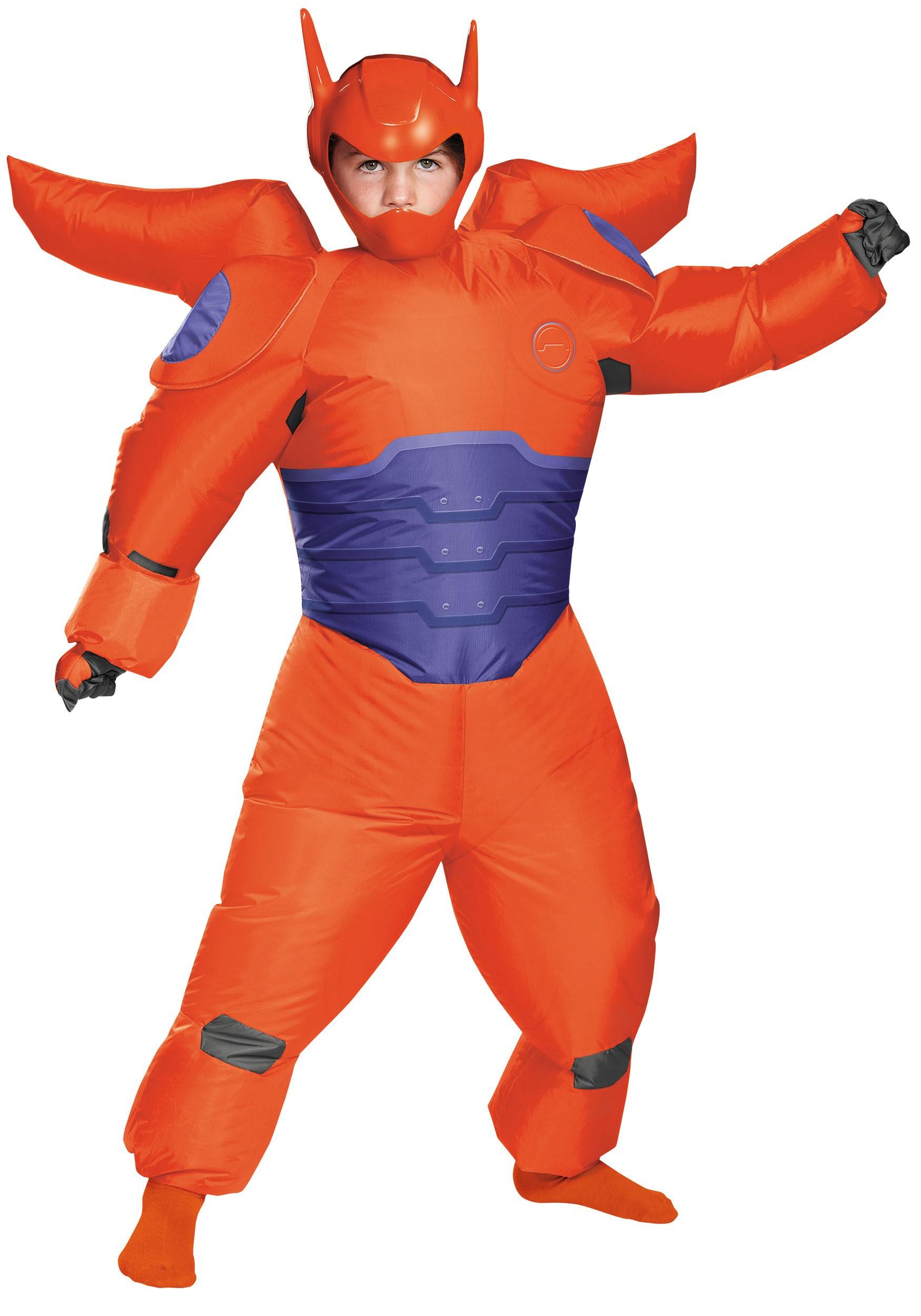 Red Baymax Inflatable Costume For Boys Jaket Hoodie Big Hero 6 Black
