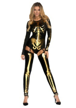 Gold Bad to the Bone Costume For Women