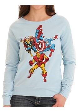 Avengers Group Shot Front Sublimated Back Juniors Shirt