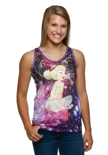 Peter Pan Tink In Stars Juniors Racer-Back Tank Top
