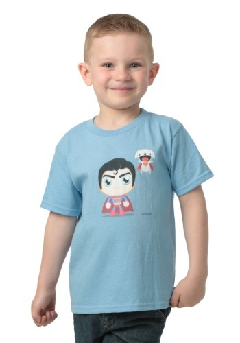 Toddler Cute Superman and Dog T-Shirt