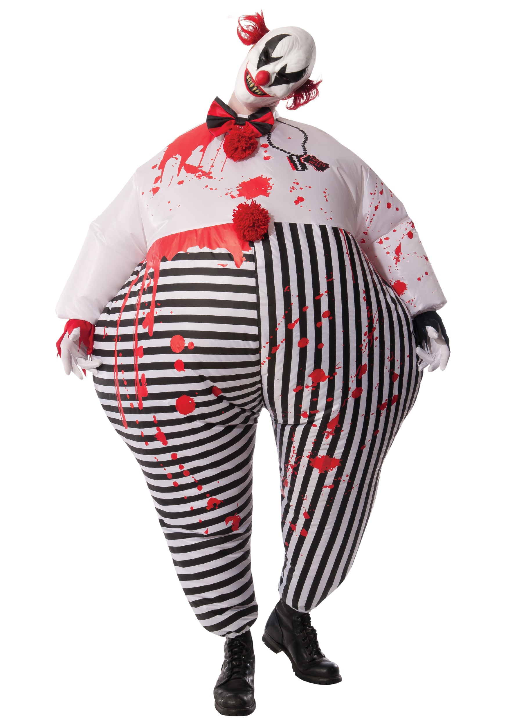 Adult's Inflatable Evil Clown Costume