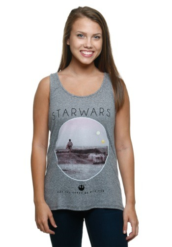 Star Wars Photoreal Circle Juniors Tank Top