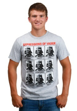 Men's Darth Vader Expressions Heather Grey T-Shirt