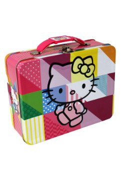 Walking Hello Kitty Embossed Lunch Box