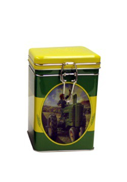John Deere Moline Square Lock-Top Tin