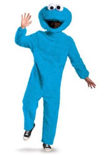 Adult Plus Size Prestige Cookie Monster Costume
