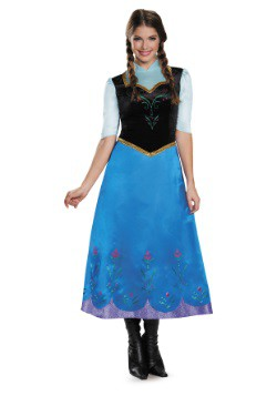 Frozen Traveling Anna Deluxe Costume For Women