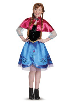 Tween Frozen Traveling Anna Costume