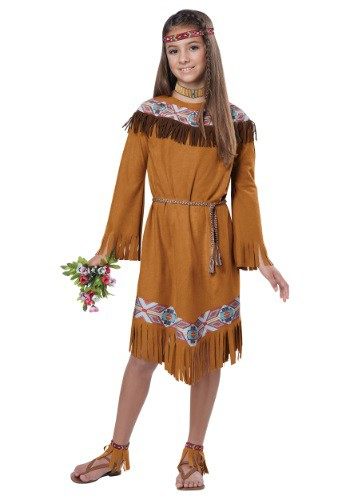 Girls Classic Native American Costume