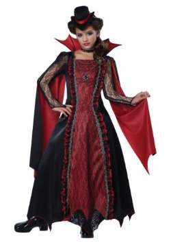 Victorian Vampira Costume For Girls