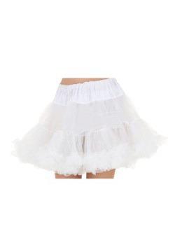 Plus White Adult Petticoat