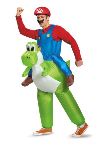 Mario Riding Yoshi Adult Costume