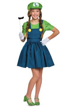 Tweens Luigi Skirt Costume
