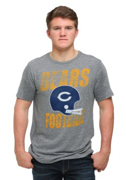 Mens Chicago Bears Touchdown Tri-Blend T-Shirt