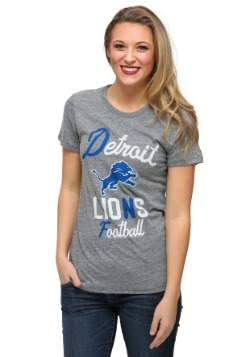 Detroit Lions Touchdown Tri-Blend Juniors T-Shirt