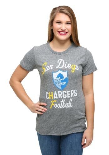 San Diego Chargers Touchdown Tri-Blend Juniors T-Shirt