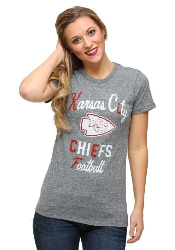 Kansas City Chiefs Touchdown Tri-Blend Juniors T-Shirt