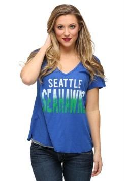 Seattle Seahawks Sidline V-Neck Juniors T-Shirt