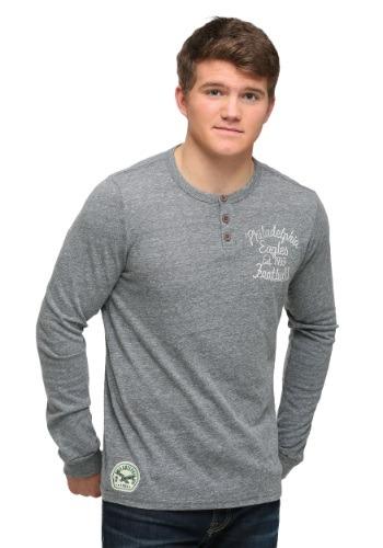 Philadelphia Eagles Huddle Henley Mens Long Sleeve Shirt