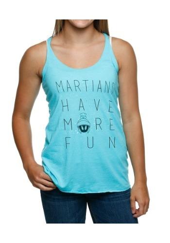Looney Tunes Martians Have Fun Juniors Racerback Tank