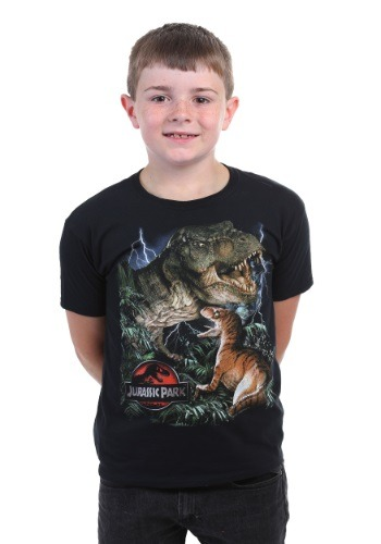 Boys Jurassic Park Dinos Big Print T-Shirt